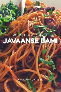 Javaanse bami (récept) - Lilly is Love Healthy Slow Cooker, Healthy Crockpot Recipes, Weigt Watchers, Suriname Food, Exotic Food, Indonesian Food, Mo S, I Love Food, Breakfast