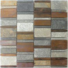 Kupfer Naturstein Mosaik Fliesen Mix
