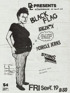 Black Flag *Punk Riot* at the Hideaway in downtown Los Angeles 1980 Downtown Los Angeles, Flag, Punk, Peace, Memes, Boots, Crotch Boots, Meme, Shoe Boot