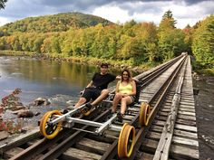 You Can Ride Train Bikes Through The Forest Just Across The Border From Ontario - An exciting new outdoor adventure! Cheap Places To Travel, Camping Places, Places To See, Canada Travel, Travel Usa, Canada Trip, Beach Travel, Ontario Travel, Destinations