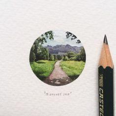 Day 225: Alphen trail, Constantia.  28 x 28mm. #365postcardsforants