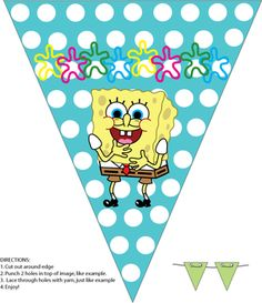 Spongebob Birthday Party - Free Printable Banner from Family Shoppingbag.com