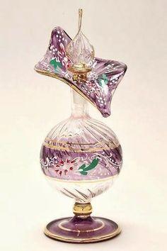 Pretty glass perfume bottle by cristina