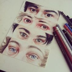 A fan drew the eyes of 5SOS and just... wow