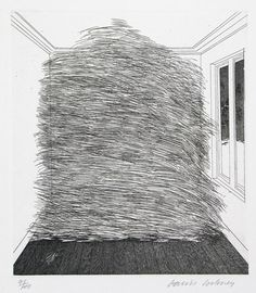 David Hockney, A Room Full of Straw, 1969