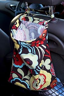"""Need to make these for the car, but I think I'd make it with PUL rather than regular fabric... just in case someone puts a """"wet"""" item in there..."""