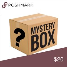 MYSTERY BOX That's right! Mystery boxes available now! Each box will include five items anywhere from clothes to make up, jewelry or shoes. Includes a few brand names either from my closet or not. Some items may be new with tags, and others may have been previously loved! Feel free to drop me a comment about your particular likes and sizes 😄 I can't wait to send you a surprise! 🛍 price is firm on these boxes! Remember poshmark takes 20% of finale price Accessories