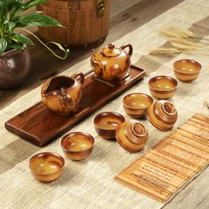 Package of Kung Fu Tea Set Yixing tea cup handmade ceramic kiln teapot gift box special offer free shipping