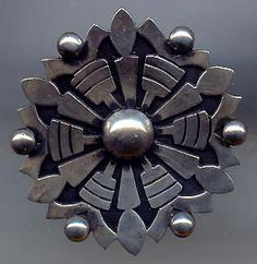 LOS BALLESTEROS VINTAGE MEXICO STERLING SILVER ARROWS PIN