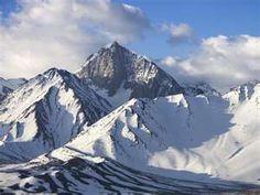 Snow-Covered Sierra Nevada Mountains, California