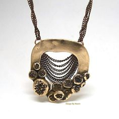 Knot knot series. Necklace.. Metal clay.
