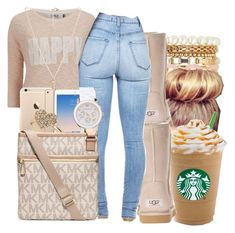 """L O L A"" by honey-cocaine1972 ❤ liked on Polyvore featuring Charlotte Russe, UGG Australia, ONLY, Michael Kors, Miss Selfridge and Forever 21"