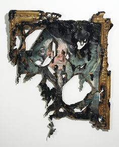 "Valerie Hegarty.   George Washington Shipwrecked  2011  Foamcore, canvas, paper, paint, paste, mdf, gel medium  39"" x 33"" x 4"""