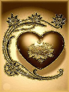 Discover & share this Animated GIF with everyone you know. Golden Heart, Heart Of Gold, I Love Heart, My Heart, Coeur Gif, Corazones Gif, Beau Gif, Animiertes Gif, Animated Heart