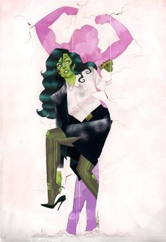 Marvel finally released the unadorned version of my She-Hulk cover!!!  I don't know when, I don't know how, but I know something...