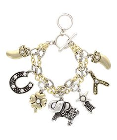 Silver & Gold Layered Charm Bracelet #zulily #zulilyfinds