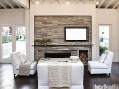 Image result for off center fireplaces
