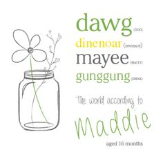 Personalised 'The World According To. Personalized Baby Gifts, Special Gifts, Words, Horse