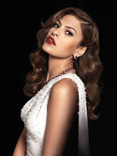 Eva Mendes, seriously gorgeous, and the 40's glamour suits her well, dontcha think?