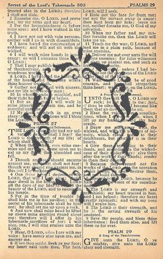 Knick of Time: Create a Banner with Printable Antique Bible Page