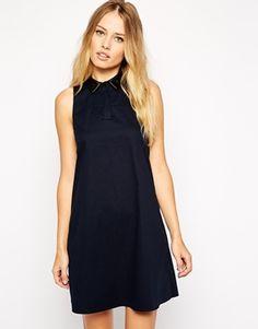 Warehouse Collared Cotton Dress