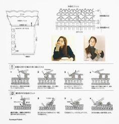 Irish crochet &: Митенки 6 моделей со схемами