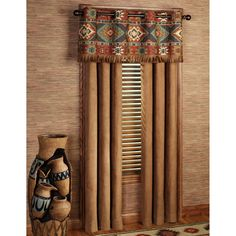 rustic+window+treatments | Home Canyon Ridge Grommet Curtain Pair Saddle Brown 84 x 84