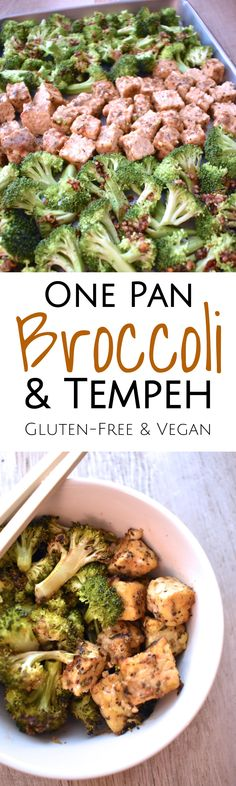 One Pan Broccoli & Tempeh Dinner