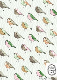 Pattern birds birdrepeatsallypayne