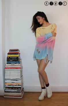 new looks on the blog: Spring is here Summer is upon us...#fashion #fblogger #knitwear #urbanoutfitters #pastel #tiedye