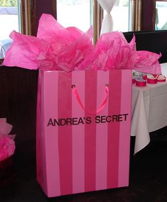 Victoria Secret Ashley 39 s Secret Themed Bridal Shower Bachelorette I LOV Victoria Secret Party, Victoria Secrets, Bridal Lingerie Shower, Lingerie Plus, Bridal Shower Gifts, Bridal Showers, Lingere Party, Bachelorette Party Gifts, Pink Birthday