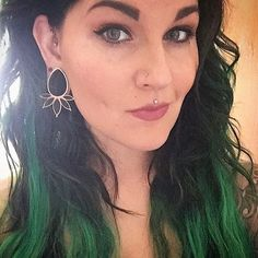 @mandynmay in the Marquise onyx & rose gold plated plus is simply to die for! 😍😍 #buddhajewelryorganics #plugs #piercings #gold #earweights #gauges #stretchedears #septum #legitbodyjewelry #safepiercing #rosegold #daith #guyswithpiercings #girlswithpiercings #style #fashion #stretchedlobes #tattoos #plugsporn