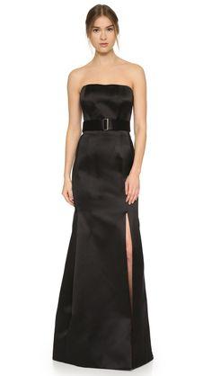 Jason Wu Strapless Gown - Black   SHOPBOP.COM saved by #ShoppingIS