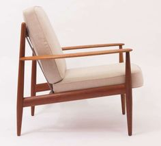 1960's Arm Chairs by Grete Jalk | From a unique collection of antique and modern lounge chairs at https://www.1stdibs.com/furniture/seating/lounge-chairs/