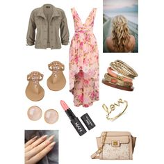 Spring outfit by sydneylara on Polyvore featuring maurices, Black Rivet, Jessica Simpson, Wallis, Saachi and Sydney Evan