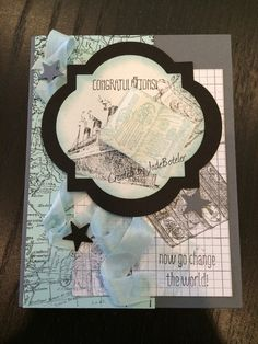 Congratulations in grey and sky Created by Jade Boteler