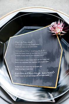 A gorgeous geometric menu                                                                                                                                                     More