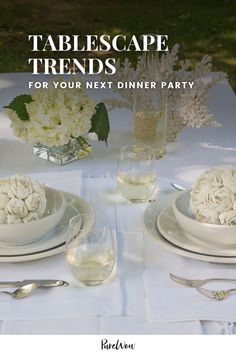 Feeling that post-pandemic hostess itch? Here are three tablescape trends of 2021 to inspire your next dinner party. #dinner #party #tablescape Coastal Colors, Coastal Style, Home Decor Trends, Home Decor Inspiration, New Trends, Color Trends, Housewarming Party, Furniture Sale, Tablescapes