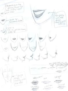 Delineate Your Lips Lips tutorial by ~burdge-bug on deviantART - How to draw lips correctly? The first thing to keep in mind is the shape of your lips: if they are thin or thick and if you have the M (or heart) pronounced or barely suggested. Drawing Skills, Drawing Techniques, Drawing Tips, Figure Drawing, Drawing Reference, Anatomy Reference, Pose Reference, Burdge Bug, Art Visage