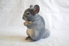 Chinchilla felt toy