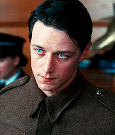 James McAvoy in Atonement (2007) never seen this movie but his eyes are soooooo BLUE!