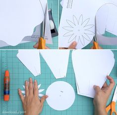 Free petal template to make giant paper roses | Download & Print