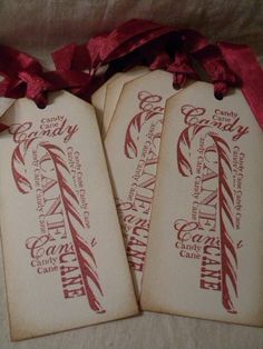 Handmade Gift Tags-Candy Canes from etsy...can no longer view...need to find out if this is a stamp!....or a printable...