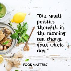 One negative thought in your day can easily take charge of how your day unfolds. Change your perspective and watch your day unfold in a more positive and fulfilling way! Try it... www.foodmatters.com #foodmatters #FMquotes #foodforthought #inspiration