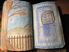 wreck this journal - find a way to freeze this page