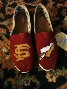 Hey, I found this really awesome Etsy listing at http://www.etsy.com/listing/130812021/florida-state-university-customized-toms