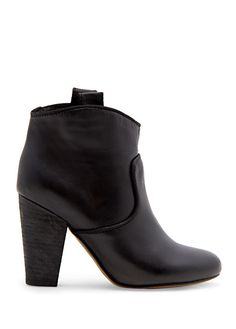 MANGO - Leather ankle boots