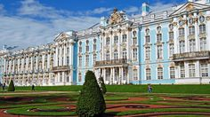 The Catherine Palace is a Rococo mansion near St. Petersburg built as the summer residence of Catherine I of Russia in the 18th century. More than 100 kilograms of gold were used for the stucco facade. The interior of the palace is also luxurious, including rooms such as the Amber Room and the Portrait Hall. (Flickr/Harvey Barrison)