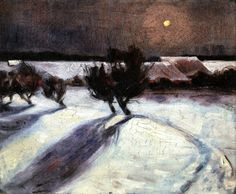 Snow Landscape In The Moonlight Artwork By Max Beckmann Oil Painting & Art Prints On Canvas For Sale Max Beckmann, Nocturne, Kandinsky, Abstract Landscape, Landscape Paintings, Landscapes, Expressionist Artists, Winter Painting, Online Art Gallery