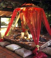 60 Comfy Moroccan Dining Room Design You Should Try. Tired of looking at the same bedroom, same dining room and same living room again and again? Moroccan Design, Moroccan Decor, Moroccan Style, Morrocan Table, Moroccan Tent, Moroccan Furniture, Moroccan Bedroom, Moroccan Lanterns, Moroccan Interiors